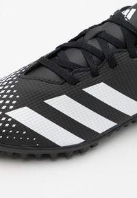 adidas Performance - PREDATOR 20.4 FOOTBALL BOOTS TURF - Voetbalschoenen voor kunstgras - core black/footwear white - 5
