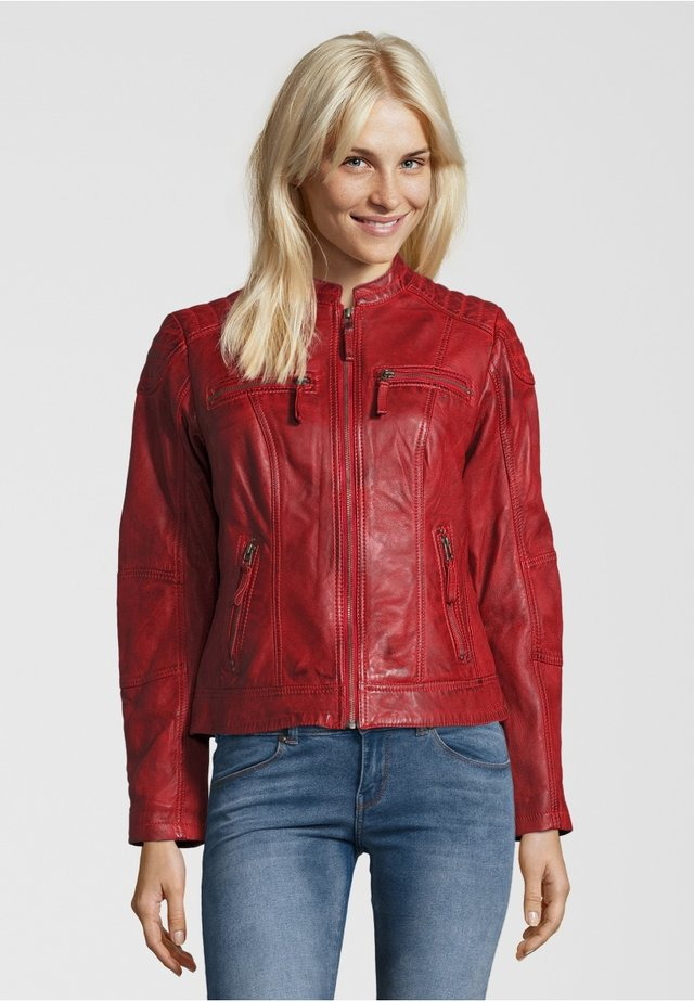 Veste en cuir - red