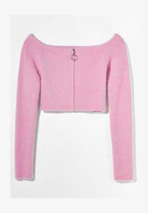 MIT CARMEN-AUSSCHNITT  - Cardigan - pink
