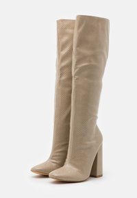 Missguided - TUBULAR BOOT - High heeled boots - taupe - 2