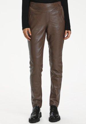 GIA SOFIE - Spodnie skórzane - shopping bag