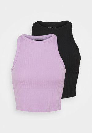 2 PACK - Top - black/lilac