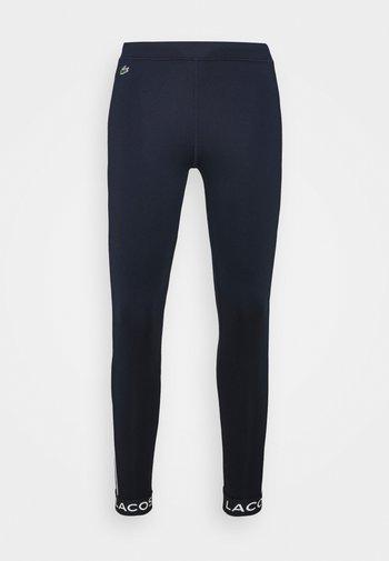 Leggings - navy blue/white