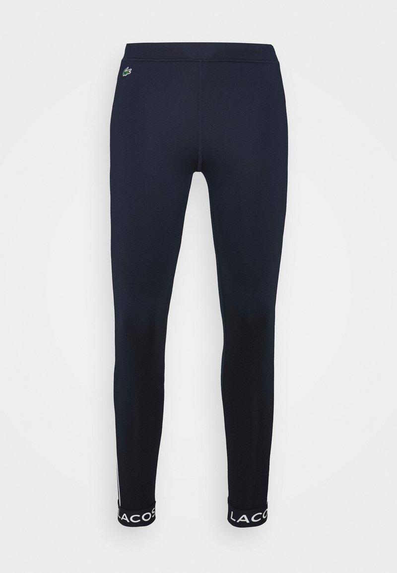 Lacoste Sport - Leggings - navy blue/white