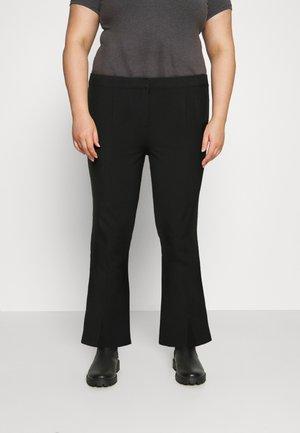 VMIVY SLIT PANT - Kalhoty - black