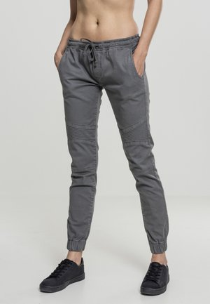 LADIES BIKER PANTS - Tracksuit bottoms - grey