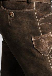 Spieth & Wensky - OTTFRIED - Leather trousers - brown - 3