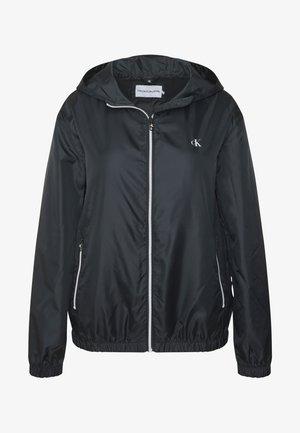 PLUS LARGE CK HOODED ZIP THROUGH - Training jacket - black