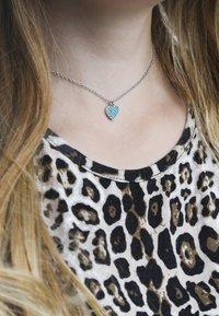 Lucardi - Necklace - blauw - 0