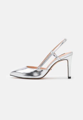 ONLPEACHES SLING BACK - High heels - silver