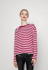Monki - MAJA 2 PACK - Long sleeved top - red/white - 0