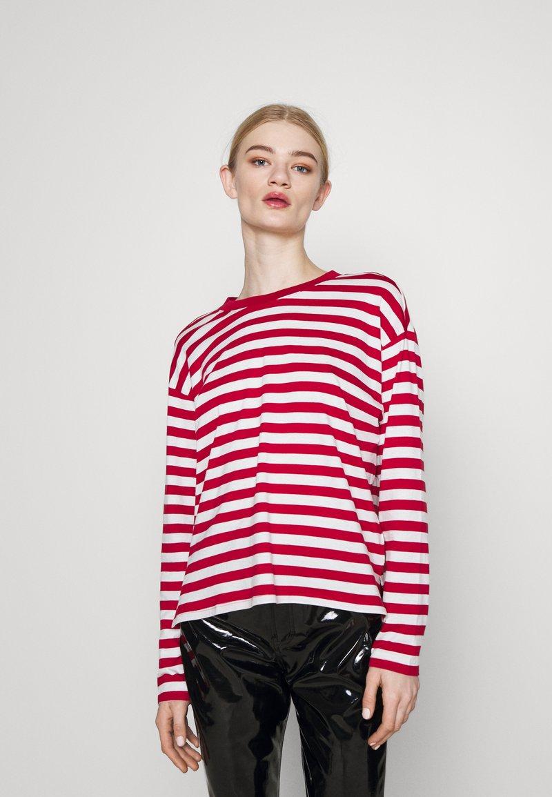 Monki - MAJA 2 PACK - Long sleeved top - red/white
