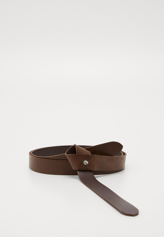 FAKE KNOT - Belt - dark brown