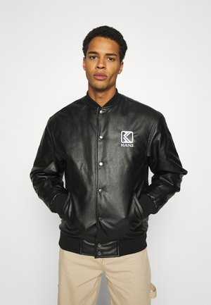 OG COLLEGE JACKET UNISEX - Faux leather jacket - black/yellow