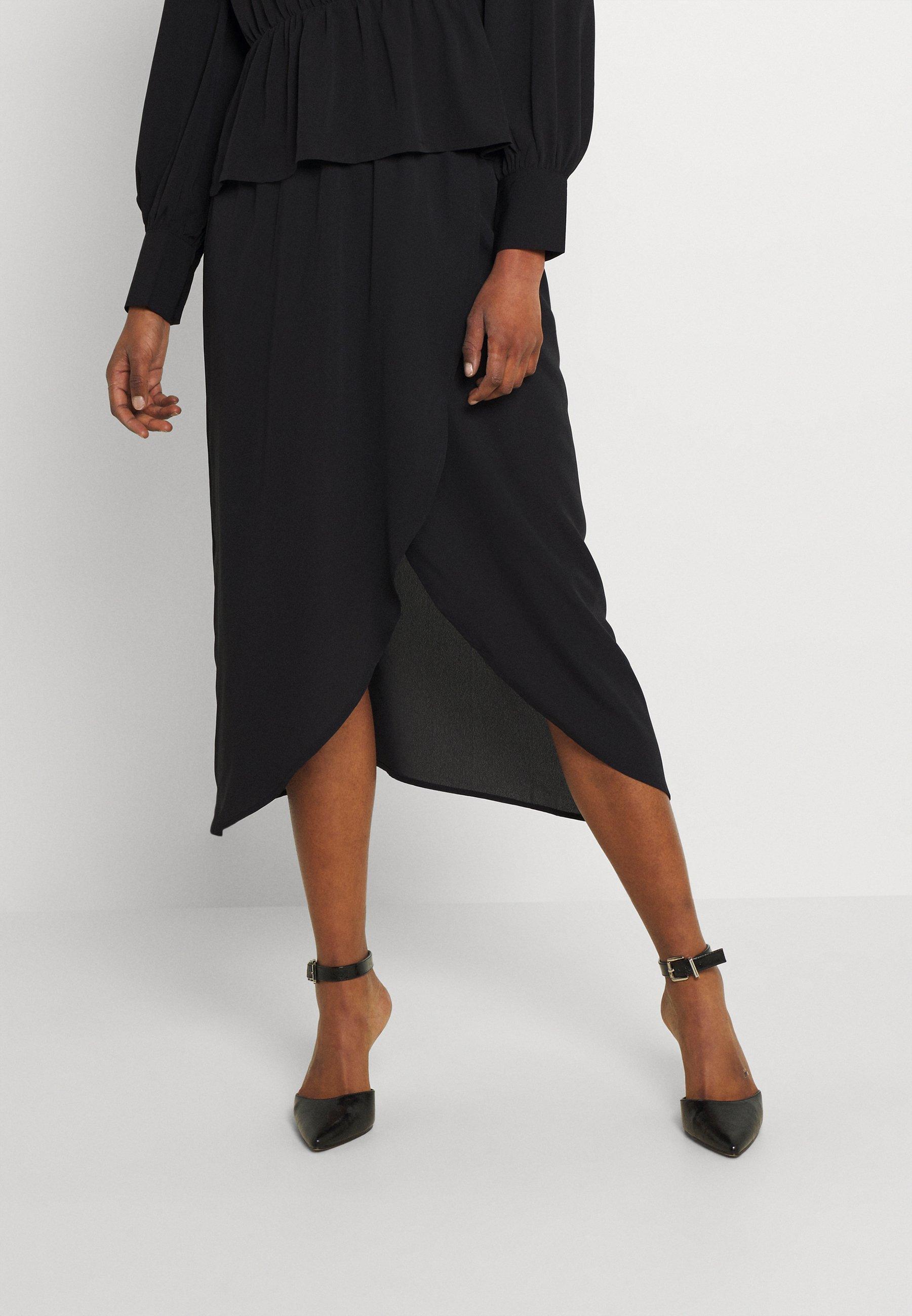 Women VMVEGA ELASTIC FAKE WRAP SKIRT - Pencil skirt