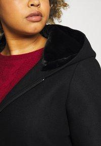 Vero Moda Curve - VMMOLLYHOODIE JACKET - Classic coat - black - 4