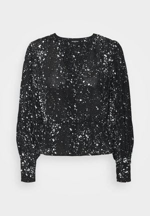 Long sleeved top - black/ecru