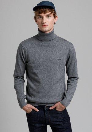 CLASSIC TURTLENECK - Pullover - dark grey melange