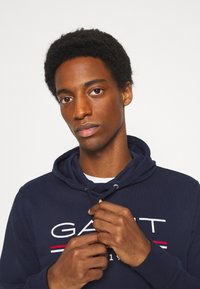 GANT - HOODIE - Sweatshirt - classic blue - 3
