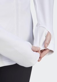 adidas Performance - AEROREADY KNIT JACKET (PLUS SIZE) - Chaqueta de entrenamiento - white - 5