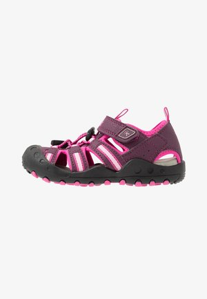 CRAB - Walking sandals - plum/prune