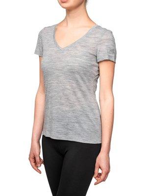 SUPER.NATURAL W BASE V-NECK TEE 140 - Basic T-shirt - grey
