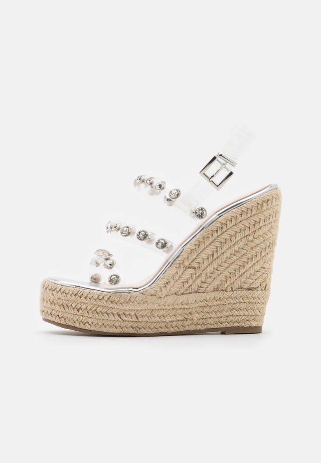 VILLA - Platform sandals - clear