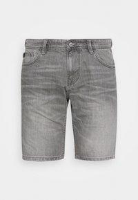 BERMUDA - Denim shorts - light stone grey denim