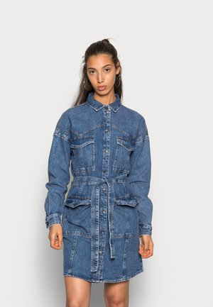 LAURA WESTERN DRESS - Day dress - medium blue denim