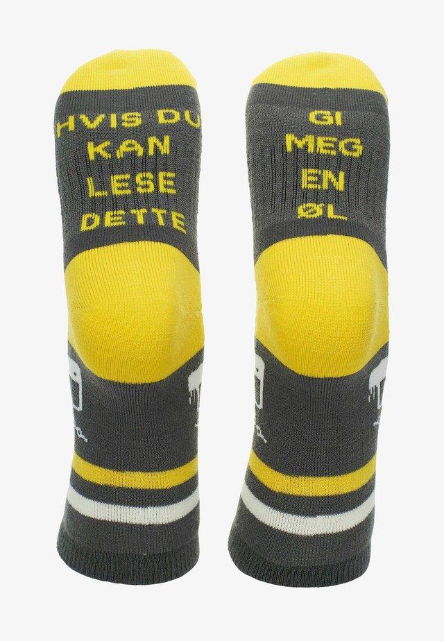 Sokker - grå og gul