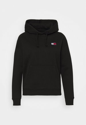 BADGE HOODIE - Bluza z kapturem - black