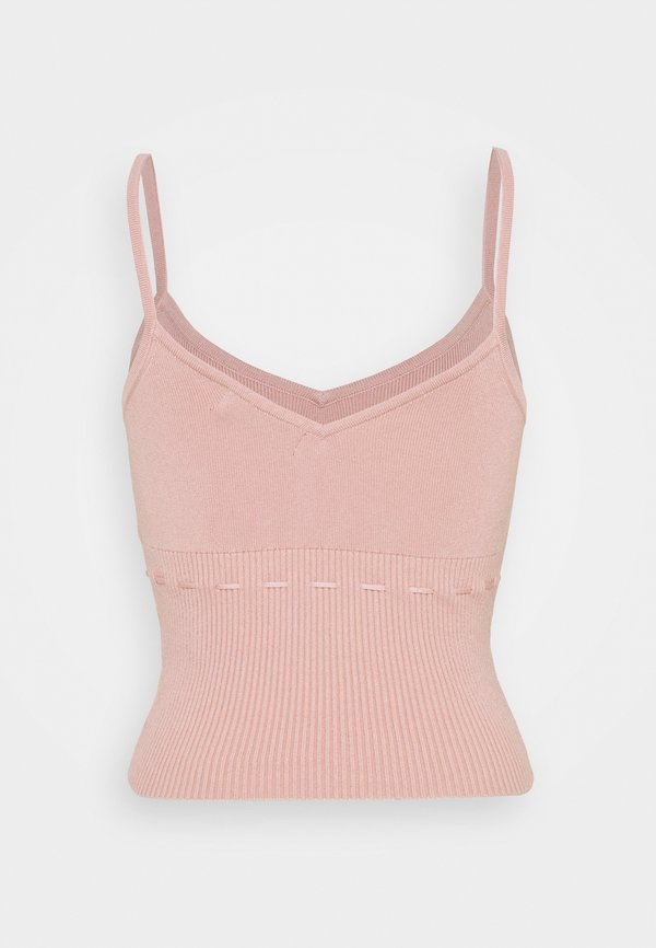 Fashion Union CALICO VEST - Top - baby pink/rÓżowy HTER