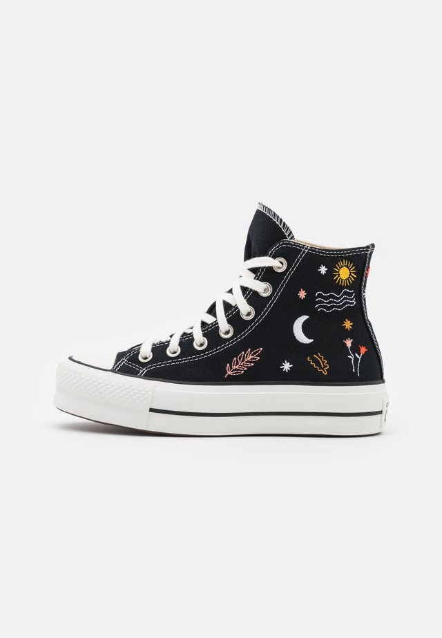 CHUCK TAYLOR ALL STAR LIFT - High-top trainers - black/vintage white/multicolor
