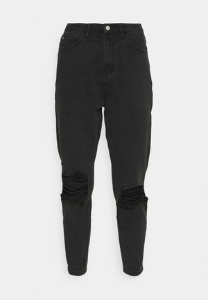 BUSTED KNEE MOM JEAN - Relaxed fit jeans - black