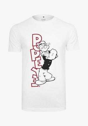POPEYE STANDING - T-shirt med print - white