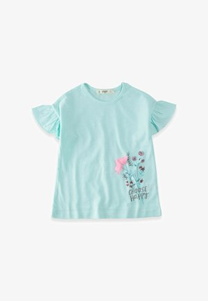 CHOOSE HAPPY  - Print T-shirt - turquoise