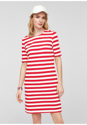Day dress - red stripes