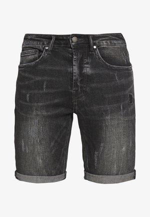 SOLOMON - Denim shorts - dark grey