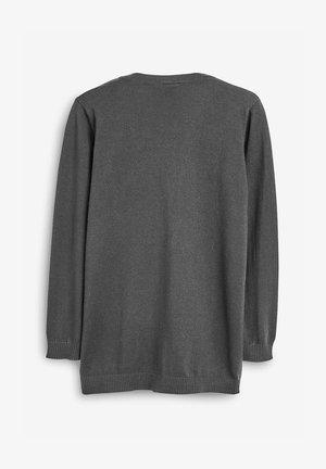 BLACK LONGER LENGTH V-NECK CARDIGAN (3-16YRS) - Cardigan - grey