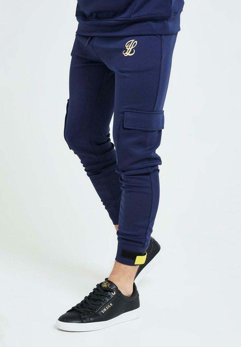 Illusive London Juniors - Cargo trousers - navy gold & yellow