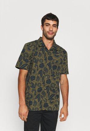 FLORAL - Camisa - dark green