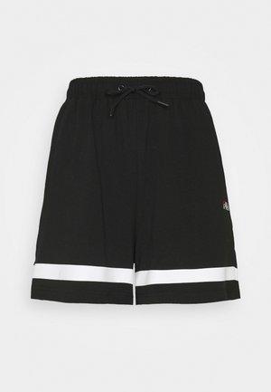 JAKA HIGH WAIST SPORTY SHORTS - Pantaloncini sportivi - black