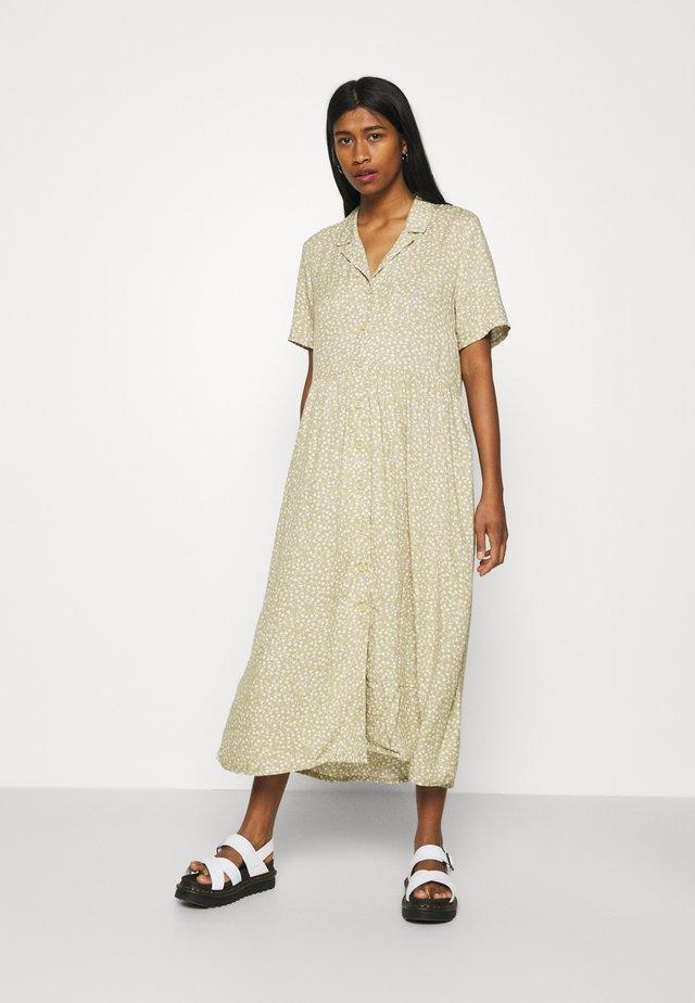 MATTAN DRESS - Shirt dress - khaki/offwhite