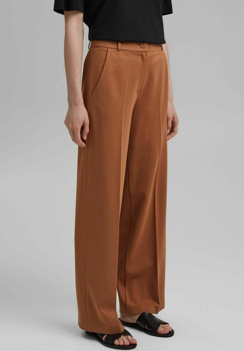 Esprit Collection - SOFT PUNTO - Trousers - caramel