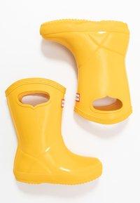 Hunter ORIGINAL - KIDS FIRST CLASSIC PULL-ON GLOSS - Botas de agua - yellow - 0