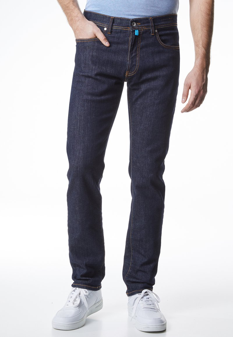 Pierre Cardin - FLEX - Straight leg jeans - dark-blue denim