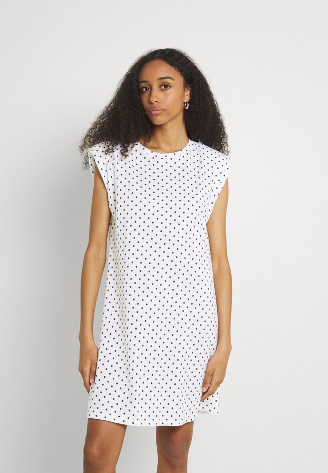 ONLPERNILLE SHOULDER DRESS - Sukienka z dżerseju - white