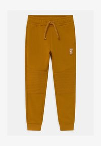Lindex - TROUSERS ESSENTIAL KNEE UNISEX - Tracksuit bottoms - dark dusty yelloy - 0