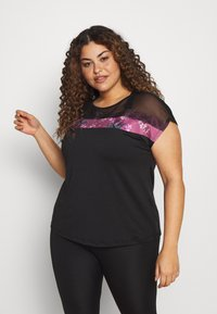 Active by Zizzi - WISTFULL TOP - Camiseta estampada - wistful mauve - 0