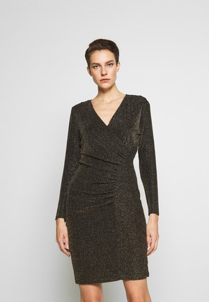 SIDE RUCHE SHEATH - Cocktail dress / Party dress - black/gold